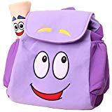 WEN FEIYU Dora Explorer Backpack Rescue Bag with Map, Pre-Kindergarten Dora Backpack Purple
