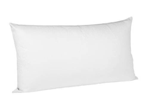 fleuresse 9100-1000 Kissenbezug (40x80 cm colours Uni Mako Satin, 100% Baumwolle) weiß