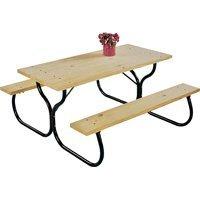 Jack Post Möbel (Living Akzente Picknick Tisch Rahmen Fiesta Charm 28H x 49B x 60L schwarz von weltweit Sourcing)