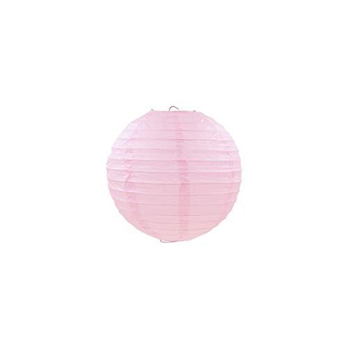 Papierlaterne 7 Größe Papierlaterne Hochzeits-Verpflichtungs-Geburtstags-Party Startseite Dekorative Diy Papierkugeln Schlafzimmer-Lampen-Licht, Hellrosa, 10Inch 25Cm
