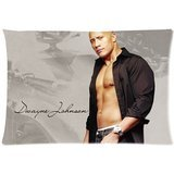 Fashion&Modern Custom Dwayne Johnson The Rock Home Decorative Pillowcase(Copricuscini e federe)Pillow case(Copricuscini e federe)Cover 20*30 Two Sides Print