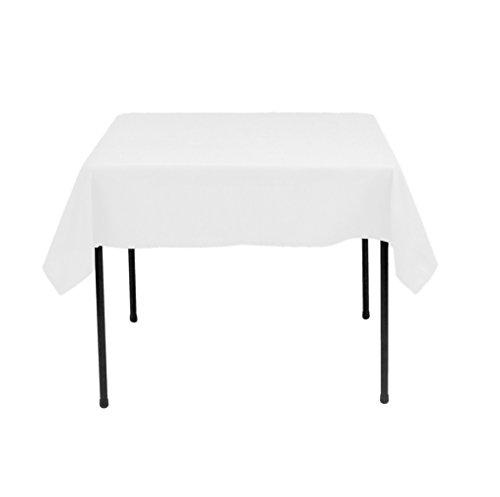 OWS 137,2x 137,2cm Zoll weiß quadratisch Polyester Tischdecke Tisch coverwedding Party Event weiß (Supplies Günstige Online Party)