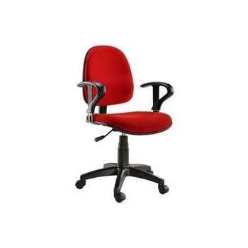 sedia per ufficio easy colore rosso: amazon.it: elettronica - Sedie Da Ufficio Rosse