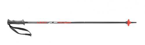 LEKI Kinder Skistock Rider, Base Color: Black/ Design: Red-White-Anthraite, 105 cm, 637-4414