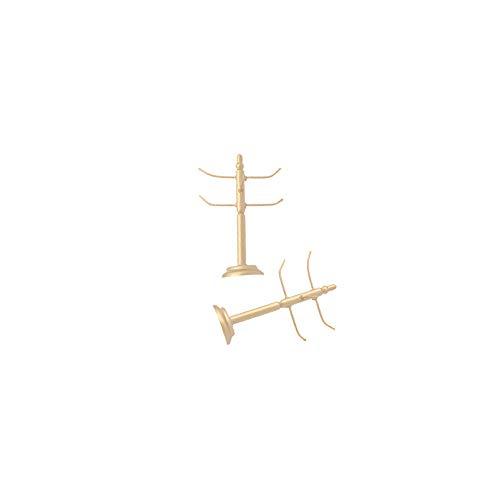 01.12 Skaladollhouse-Cup Zahnstangen-Halter Goblet Kits Esszimmer Ornament für Fairy Garden Life Szenen Decor 2Stk -