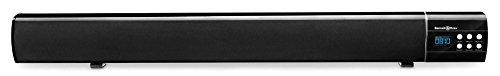 Bennett & Ross Moviebar 2.1 Soundbar mit USB/SD-Slots und Bluetooth (Lautsprecher, Boxen, HiFi-Anlage, Multimedia-Box, Subwoofer, 2x 9W + 18W RMS, inkl. Fernbedienung, AUX- und Stereo-Kabel) schwarz
