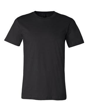 Canvas Kurzarm-t-shirt (Bella+Canvas: Unisex Jersey Crewneck T-shirt 3001, Größe:M;Farbe:Black)