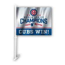 2016 World Series Chicago Cubs Car Flag by Fremont Die -