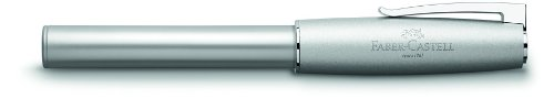 Faber-Castell 149200 – Estilográfica Loom Metallic con cuerpo lacado metálico con forma cónica ergonómica, plumín con…