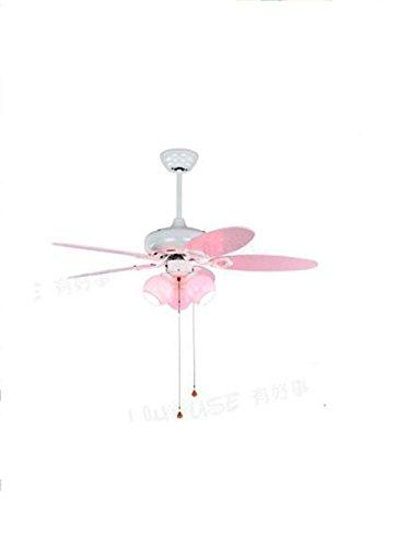JFFFFWI EIN Satz von Kronleuchter-Eisen mit elektrischen Ventilatoren ohne Lärm Kinderzimmer Kronleuchter (ohne die Lichtquelle) (Farbe: Wandsteuerung) -