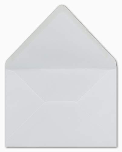 50 DIN C5 Briefumschläge Weiß 16,1 x 22,8 cm 90 g/m² Nassklebung Post-Umschläge ohne Fenster ideal für Weihnachten Grußkarten Einladungen