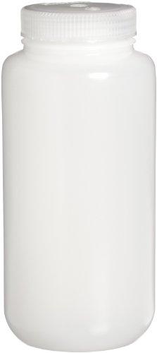 Nalgene 2189-0032 Bottle, Sample, 1 L, HDPE WN (Pack of 24)