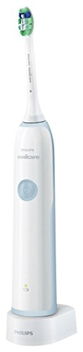 Philips Sonicare Clean Care HX3212/03 - Cepillo de dientes eléctrico, defensa anti placa, color blanco y azul claro