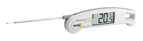 TFA Dostmann Thermo Jack Pro Digitales Einstichthermometer, Profi-Klappthermometer, abwaschnar, ideal für Lebensmittel