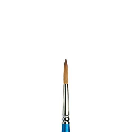 Winsor & Newton 5301007 Cotman Aquarell Synthetikhaar Pinsel - Serie 111 - Rundpinsel, kurzer Stiel mit exzellenter Sprungkraft, Farbtragekraft und Punktgenauigkeit - Nr. 7 - 4,1 mm