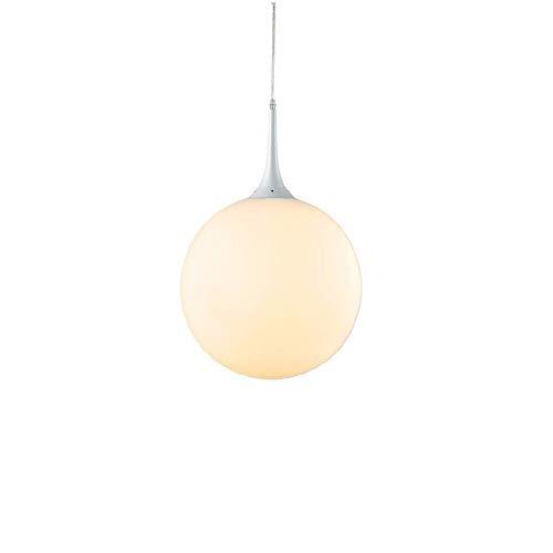 JDFM5 Glass round ball,white,Ø 20cm Pendelleucht vintage dimmbar Hängelampe Deckenleuchte Deckenbeleuchtung Hängeleuchten Leuchte Kronleuchter Lampe - Glas Base Stehleuchte