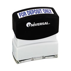 Message Stamp, for DEPOSIT ONLY, Pre-Inked/Re-Inkable, Blue, Sold as 1 Each