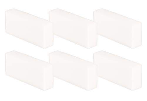 6 Stück Packung Wunderschwamm, Schmutzradierer, Putzschwamm, Radierschwamm 12x5x2,5cm -