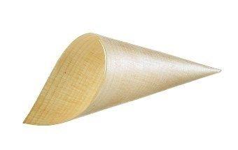 Leone maxi cono in legno 50pezzi, diametro 7cm, marrone chiaro, 1