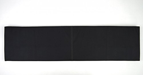 Wandkissen L Breite 115cm Kunstleder mit Montage-Set verschiedene Farben, Farbe:schwarz