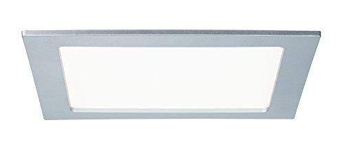 Paulmann 92078 Quality EBL Set Panel eckig LED 1x18W 4000K 230V 220x220mm Chr m/Kunststoff 920.78 LED Spot Einbaustrahler Einbauleuchte