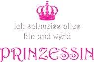 Mister Merchandise Ladies T-Shirt Ich wird Prinzessin Frauen Damen Tee Schwarz