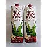 Everver Aloe Vera Nektar Beere Getränkegel, versiegelt, 1 l, 2 Stück -