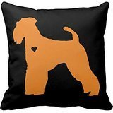 Airedale Terrier Pop Dog Art Heart Silhouette Throw Refdb62ed77ef4b40b97fb98c323eabc1 I5fqz 8byvr Pillow Case