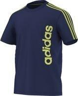 Men'adidas Damen T-Shirt Essentials Lineage Blau Night Blue F13/Bahia Glow S14 S
