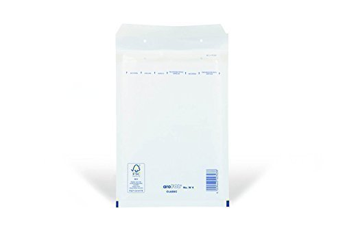 100 x Luftpolsterversandtaschen Weiss - Gr. D / 4 [ 200 x 275 mm ] Luftpolstertaschen Versandtaschen Umschläge