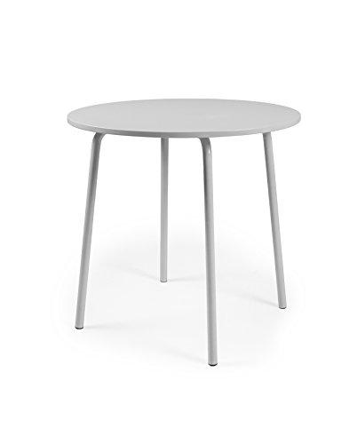 Tenzo LOLLY Designer Table Ronde, Autre, Gris, 90 x 90 x 76 cm
