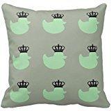 """18"""" x 18"""" Cute Greensage Duck Decorative Throw Pillow Case Cushion Cover"""