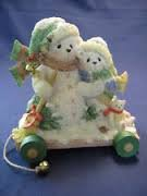 The Good Gift Company Cherished Teddies URSULA and BERNHARD Snowbears figurine - In The Winter We Can Build A Snowman