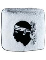 Digni® Poignet éponge avec drapeau France Corse, pack de 2