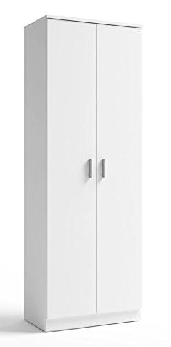 Armario Zapatero 2 Puertas en Color Blanco con estantes Interior de fabricación Nacional 60x35x171...