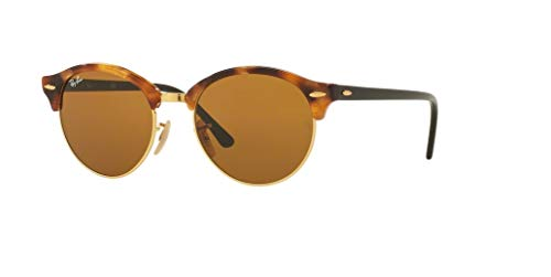 Ray-Ban RB4246 CLUBROUND 1160 51M Spotted Brown Havana/Brown Sunglasses