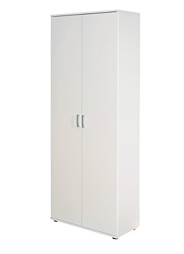 Inter Link 13500100 Schrank Aktenschrank weiß Büroschrank Büro Mehrzweckschrank 2-türig 5 Böden NEU