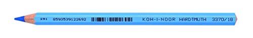 KOH-I-NOOR 3370018029KS Jumbo Buntstift 3370 hellblau satz von 12, Pencil, Light Blue, 6,2 x 17,7 x 1,9 cm
