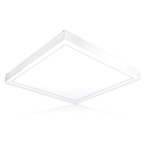 LED Deckenleuchte 60x60 dimmbar LED Deckenlampe 60x60 cm 40W LED Panel dimmbar inkl. Aufbaurahmen warmweiß neutralweiß tageslichtweiß ENEC PLs2.0
