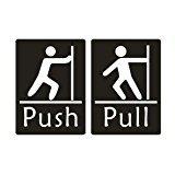 Do4u 1paire Premium horizontal Push Pull Panneau de porte 9,1x 7cm gravé au laser en acrylique et résistant aux UV pour utilisation intérieur extérieur