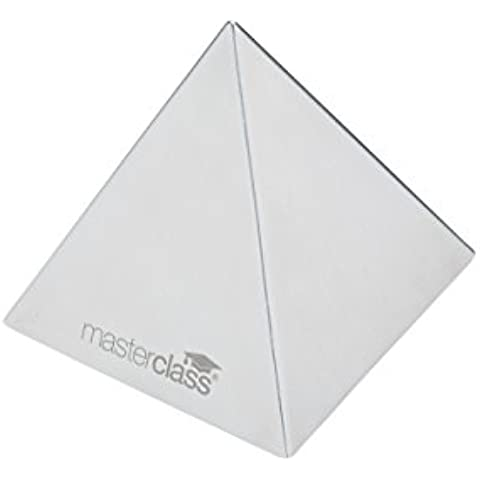 Master Class–Molde de comida de acero inoxidable Pirámide/Arroz Shaper, 8,5cm (3.5)