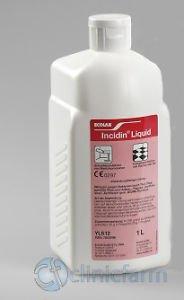 INCIDIN LIQUIDO SPRAY DISINFETTANTE e pulizia per SUPERFICI e 1 LITRO uso medico