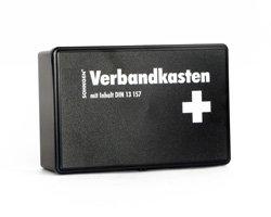 Preisvergleich Produktbild Qualitäts-Verbandskasten, Sanikasten mit 66 Teilen nach DIN 13157 + Set Anleitung zur Ersten Hilfe