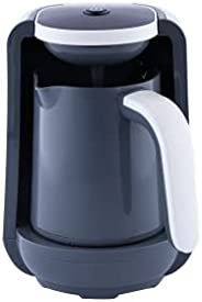 ماكينة تحضير القهوة التركية من السيف، بسعة 250 مل، قدرة 400 واط، بلون ابيض واسود، موديل E03424