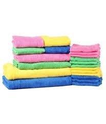 Trident 20Teile Baumwolle wie Bettwäsche (Bad, Hand und Waschlappen/Gesicht) Handtuch-Set, mehrfarbig (Waschlappen Bettwäsche,)