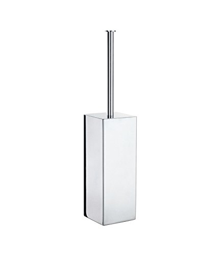 Smedbo Outline Lite WC-Bürste Quadratisch Edelstahl poliert, silber, 45cm (Smedbo Wc-bürste Outline)