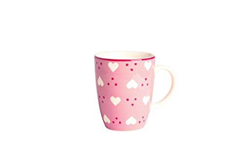 Déjeuner sur l'herbe DH043045 Grand Mug, Faïence, Rose, 8,2 x 8,2 x 10 cm
