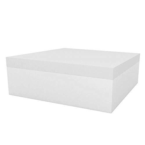 Vondom Quadrat Pouf pour l'extérieur 120x120 h.40 cm Blanc