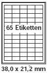pripa Etikettenformat 38 x 21,2mm 200 Blatt DIN A4 selbstklebende Etiketten
