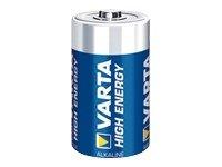 Varta 04920 121 111 Batterie High Energy Mono 1Stück R20 pour Smartphone/Tablette Multicolore